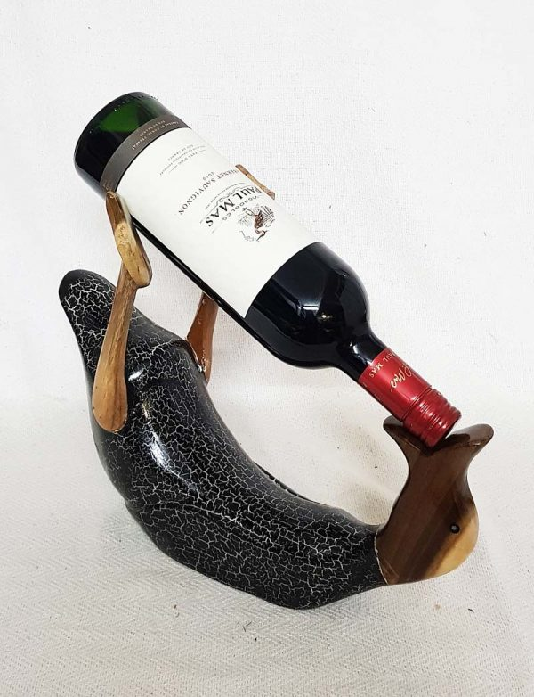 Wine Crackled Duck Holder with Cabernet Sauvignon