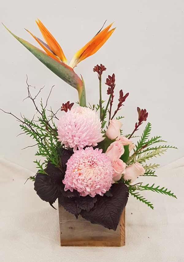 Perfect Princess - Chrysanthemum, roses and Bird of Paradise