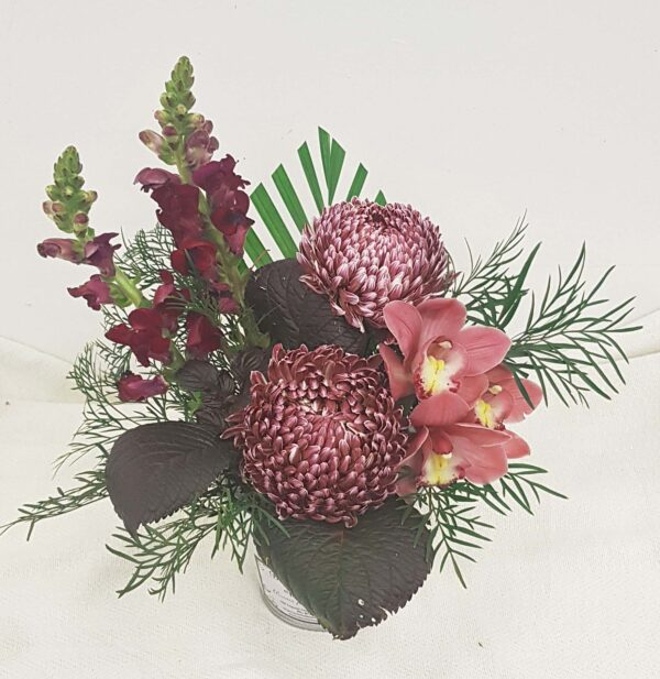 Primrose Beauties - Chrysanthemums, Snap Dragons, Cymbidium Orchids